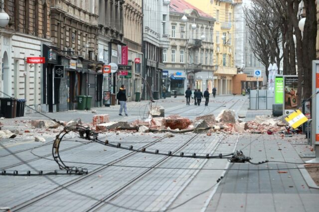 22.03.2020., Zagreb - Posljedice potresa u centru grada. Photo: Sanjin Strukic/PIXSELL